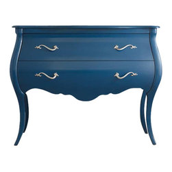 Hooker Furniture - Hooker Furniture Melange Regatta Blue Bombe Chest - Hooker Furniture - Accent Chests - 63885078 - Come closer to Melange and you will discover something unexpected an eclectic blending of colors textures and materials in a vibrant collection of one-of-a-kind artistic pieces.