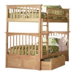 Atlantic Furniture - Atlantic Furniture Columbia Twin over Twin Bunk Bed in Natural Maple - Atlantic Furniture - Bunk Beds - AB55105 -
