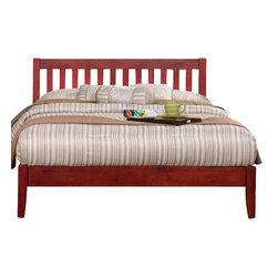 Alpine Furniture - Portola Queen Slat Headboard Platform Bed - Portola Queen Slat Headboard Platform Bed