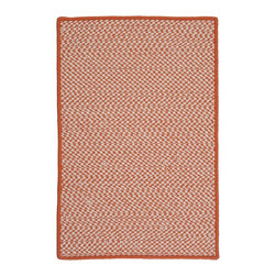 Colonial Mills, Inc. - Indoor/Outdoor Houndstooth Tweed, Orange Rug, 2'X6' - Got a passion for fashion? Then you'll appreciate this kicky outdoor area rug, which reinterprets traditional houndstooth in stain- and fade-resistant braided polypropylene. Fully reversible and made in the USA, this clever carpet will add a tailored touch to your porch or patio.