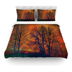 "Kess InHouse - Sylvia Cook ""Silhouettes"" Cotton Duvet Cover (Twin, 68"" x 88"") - Rest in comfort among this artistically inclined cotton blend duvet cover. This duvet cover is as light as a feather! You will be sure to be the envy of all of your guests with this aesthetically pleasing duvet. We highly recommend washing this as many times as you like as this material will not fade or lose comfort. Cotton blended, this duvet cover is not only beautiful and artistic but can be used year round with a duvet insert! Add our cotton shams to make your bed complete and looking stylish and artistic! Pillowcases not included."