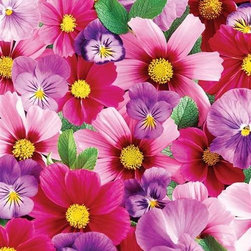 Pink 'n Purple Posies Puzzle - 350 Piece Jigsaw PuzzleA vivid image of flowers so beautiful, you'll swear you can smell them!  Featured in our 350 piece format of larger, easier to handle pieces. � Nancy Matthews licensed by Cypress Fine Art