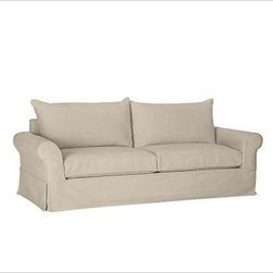 """PB Comfort Slipcovered Roll Sleeper Sofa Knife-Edge, Polyester Wrap Cushions, Tw - Built by our exclusive master upholsterers in the heart of North Carolina, our PB Comfort Slipcovered Sleeper Sofa iis designed for unparalleled comfort with deep seats and three layers of padding. 88.5"""" w x 40"""" d x 37"""" h {{link path='pages/popups/PB-FG-Comfort-Roll-Arm-4.html' class='popup' width='720' height='800'}}View the dimension diagram for more information{{/link}}. {{link path='pages/popups/PB-FG-Comfort-Roll-Arm-6.html' class='popup' width='720' height='800'}}The fit & measuring guide should be read prior to placing your order{{/link}}. Seat cushions have a lofty polyester padding. Choice of knife-edged or box-style back cushions. Proudly made in America, {{link path='/stylehouse/videos/videos/pbq_v36_rel.html?cm_sp=Video_PIP-_-PBQUALITY-_-SUTTER_STREET' class='popup' width='950' height='300'}}view video{{/link}}. For shipping and return information, click on the shipping tab. When making your selection, see the Quick Ship and Special Order fabrics below. {{link path='pages/popups/PB-FG-Comfort-Roll-Arm-7.html' class='popup' width='720' height='800'}} Additional fabrics not shown below can be seen here{{/link}}. Please call 1.888.779.5176 to place your order for these additional fabrics."""