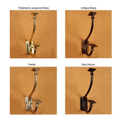 Brass Elegans - Solid Brass Art and Crafts Pyramid Double Coat Hooks (Pack of 2) - Add the convenience of these coat hooks to your home. With an elegant double hook design,these coat hooks are perfect for any home and come in a variety of finishes.