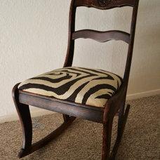 Traditional Rocking Chairs Zebra Rocking Chair