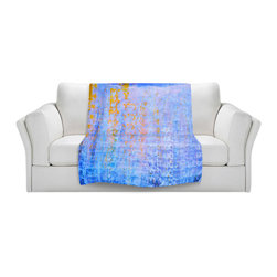 DiaNoche Designs - Fleece Throw Blanket by Iris Lehnhardt - Blues - Original Artwork printed to an ultra soft fleece Blanket for a unique look and feel of your living room couch or bedroom space.  DiaNoche Designs uses images from artists all over the world to create Illuminated art, Canvas Art, Sheets, Pillows, Duvets, Blankets and many other items that you can print to.  Every purchase supports an artist!