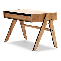 We Do Wood - We Do Wood Geo's Table, Black - Geo's Table is a functional children's table with a large pull-out drawer, which can be used to stash paper, crayons and other favorite toys from both sides of the table. Combined with Lilly's Chair you will have children's furniture that will last through generations. Geo Table is designed to be assembled easily at home.