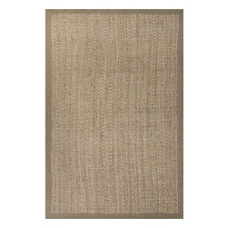 Jaipur Rugs - Jaipur Rugs Naturals Tetured Jute Taupe/Tan Area Rug, 8 x 10ft - Woven 100% natural jute these rugs are a staple in any style home.