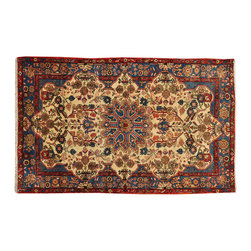 1800-Get-A-Rug - Persian Nahavand Oriental Rug Ivory Full Pile Hand Knotted Sh18778 - Our fine Oriental hand knotted rug collection consists of 100% genuine, hand-knotted and hand-woven rugs from Persia, China, and other areas throughout Asia. Classic, traditional, and offered in a wide range of elaborate designs, every rug is guaranteed to serve as a beautiful and striking element in any interior setting.