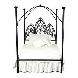 Corsican - Custom Twilight Vampire Canopy Bed, Queen - Corsican has been in business over 40 years. Their entire focus is making wrought iron furniture. Many of their skilled craftsman are second generation.