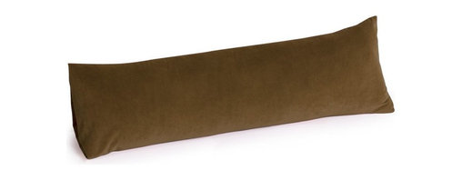 OneUp Innovations, Inc - Jaxx Rest (Body Pillow) 50 inch - Microsuede Chocolate - This elongated memory foam pillow allows your body to relax in natural, comfortable positions while relieving pressure and reducing tension in your shoulders, hips and back.  The heat sensitive, viscoelastic foam molds to your body as you slumber, lounge or laze about, offering just the right amount of support.  Extraordinarily comfortable to cradle between the knees, this pillow is so popular you might need two! Made of premium 5-pound density shredded memory foam - the highest grade available.  Machine washable microfiber cover.