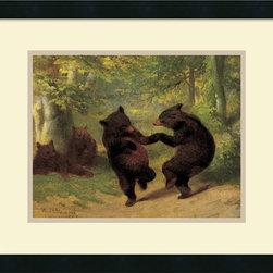 Amanti Art - Dancing Bears Framed Print by William Beard - American artist William Beard often painted satiric scenes of animals taking on human characteristics. Bears were a favorite subject.