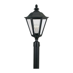 """Sea Gull Lighting - Sea Gull Lighting 8231-12 Brentwood Traditional Outdoor Post Lantern Light - Fits 3"""" Post (sold separately)."""