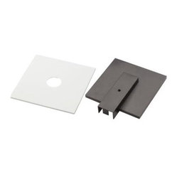 Hampton Bay White and Black Track Lighting Live-End Connector Cover Plates EC713