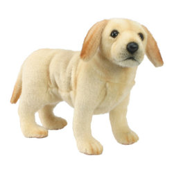 """Hansa Toys - Hansa Toys Labrador Puppy - Hansa Labrador Puppy is handcrafted from plush. Each animal's """"coat"""" is meticulously cut by hand, never stamped out by machine. Soft paws, swishing tails, and especially soulful eyes and faces are lovingly detailed to create the life-like look that is unmistakably Hansa. Ages 3 and up."""