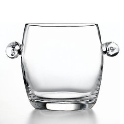 Luigi Bormioli Serveware, Michelangelo Masterpiece Ice Bucket - What? You don't consider an ice bucket an essential item for your home? Well, maybe it isn't, but apart from switching on the music, it's certainly the fastest way to create a celebratory mood in a home. Every home needs a few fail-safe pieces for creating an instant party mode.