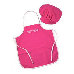 RR - Chef Apron and Hat Set in Hot Pink - Chef Apron and Hat Set in Hot Pink