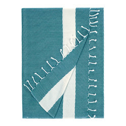 Nine Space - Sultan Beach Wrap, Teal - Foutas and summertime go hand in hand. Use them for everything from a chic beach wrap, towel, throw or table linen. Lightweight and versatile, this wrap is handwoven from pure Turkish cotton that only becomes softer after each wash.