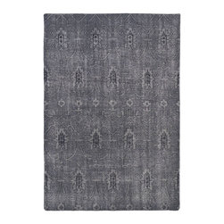 "Kaleen - Contemporary Restoration 5'6""x8'6"" Rectangle Gray Area Rug - The Restoration area rug Collection offers an affordable assortment of Contemporary stylings. Restoration features a blend of natural Gray color. Hand Knotted of 100% Wool the Restoration Collection is an intriguing compliment to any decor."