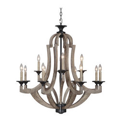Jeremiah Lighting - Jeremiah Lighting 35112 Winton 12 Light Mid-Sized Chandelier - Lamping Technology: