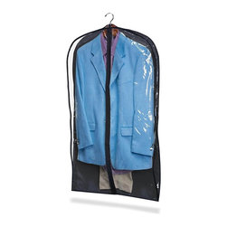 Honey Can Do - 2 Pack Suit Bag, Polyester & Clear/Black Viny - Finish: NavyPack of Two. Black Polyester w/ clear vinyl. 42 in. L x 24 in. W x 3 in. D