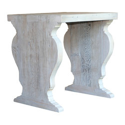 Mortise & Tenon - Tucson Side Table - Custom reclaimed wood side table with a painted finish.