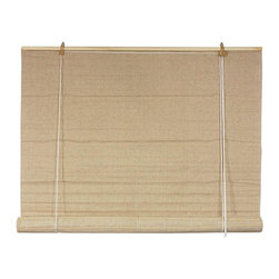 Oriental Furniture - Bianco Roll up Blinds - (24 in. x 72 in.) - These natural-colored roll-up blinds made of earth-friendly Jute fiber and can fit easily into any style of home or business decor. Strong and resilient, they are simple to set up, install, and adjust.