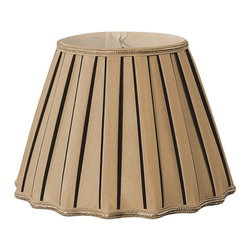 Royal Designs, Inc. - Staggered Pleat Designer Lampshade - This Pleated Designer Lampshade is a part of Royal Designs, Inc. Timeless Designer Shade Collection and is perfect for anyone who is looking for an elegant yet detailed lampshade. Royal Designs has been in the lampshade business since 1993 with their multiple shade lines that exemplify handcrafted quality and value.