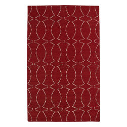 """Kaleen - Kaleen Glam GLA07 (Red) 3'6"""" x 5'6"""" Rug - This Flat Weave rug would make a great addition to any room in the house. The plush feel and durability of this rug will make it a must for your home. Free Shipping - Quick Delivery - Satisfaction Guaranteed"""