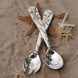 Ocean Starfish Salad Servers - One look at these exquisite OCEAN Starfish Salad Servers, and