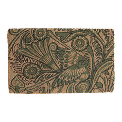 Delightful Doormat - Folk Art Bird - The Folk Art Bird doormat is the perfect place to set the tone for your home before anyone even comes inside.