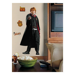 RoomMates Peel & Stick - Harry Potter - Ron Giant Wall Decal - If your room needs a little harry potter magic look no further than this giant wall decal! This giant decal of ron stands over four feet tall when assembled and is incredibly easy to apply. Just peel and stick! pair ron with any of our other giant wall decals to recreate the story from the movies right on your walls.