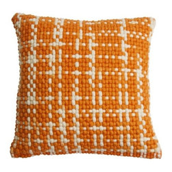 Blu Dot - Bubbie Pillow by Blu Dot - As cozy and comforting as your favorite baby blanket. The Blu Dot Bubbie Pillow has a nubby, almost pixelated pattern that's hand woven out of a cuddly wool and cotton blend. At one-and-a-half feet square, Bubbie is a perfectly huggable accent for the sofa or bed. In 1997, Blu Dot was established in Minneapolis by three college friends with a shared passion for art, architecture and design. Then and today, their goal is to bring good design to as many people as possible, collaborating to create modern home furnishings and accessories that are useful, affordable and exceedingly desirable.