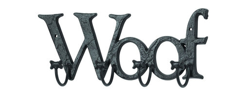 Benzara - Mankind's Best Friend Wall Hook With Woof Message - These dog bone themed wall hooks feature 5 double ended hooks to create the perfect for your coat, hat, umbrella and more, while constantly reminding you of man's best friend. Enjoy the lovable pooch message of  in. woof in.  as well as your belongings as your leave the house. And don't forget to hang the most important thing on these hooks: the dog leash.