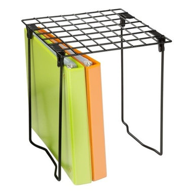 """Folding Locker Shelf - Honey-Can-Do SHF-03494 Stackable Steel Locker Shelf.  A great solution for a messy school locker.  This item will add an extra level of organization and is stackable to double the shelving space.  Sturdy steel construction supports bags, books, and binders.  The easy assembly design makes it simple to set up and take down in any locker.  Dimensions: 11"""" L x 9.25"""" W x 12.75"""" H"""