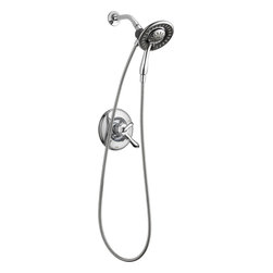 Delta - Delta Commercial T17294-I Linden 17 Series Shower Trim Only With In2ition - Delta T17294-I Linden Collection was inspired by the strong presence offered in nature of a tree  with branches extending out. The Delta T17294-I is a Monitor Tub And Shower Trim in Chrome With In2Ition.
