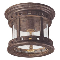 Maxim Lighting - Maxim Lighting 3130CDSE Santa Barbara Cast 1-Light Outdoor Ceiling Mount - Santa Barbara Cast is a transitional style collection from Maxim Lighting International in Sienna finish with Seedy glass.