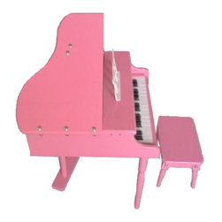 Merske - 30-Key Toddlers Toy Grand Piano - Pink - MKFZ30P - Shop for Toy Instruments from Hayneedle.com! Your little girl probably has an impressive collection of sunglasses so there's no reason she can't sit down at the 30-Key Toddlers Toy Grand Piano - Pink and start belting out a little Benny & The Jets. This kid-sized grand piano is a faithful reproduction in durable wood with a glossy candy pink finish. They'll enjoy the music stand hinged lid and matching piano bench.