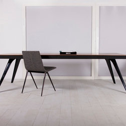 MODLOFT - Milton Rectangle Dining Table - Milton dining table features painted metal frame with wood top.