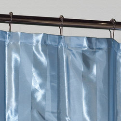 Satin Stripe Polyester Shower Curtain - Blue - Bring a nautical bathroom theme to life with this Blue shower curtain.