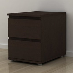 Aurora 2 Drawer Nightstand - Crafted in Denmark from sustainable wood, the Aurora 2 Drawer Nightstand is a beautiful example of contemporary European modernist design. This modern nightstand features plenty of storage and clean, eye-catching lines, including two drawers with sloped edges that are more comfortable in the hand than standard drawer hardware.About TvilumFounded in Denmark in 1965, Tvilum is one of the world's first furniture manufacturers to make production eco-friendly at every step. As a member of the UN Global Compact initiative, Tvilum practices respect for humans and nature, creating quality, well-designed furniture at reasonable prices while minimizing or neutralizing their environmental impacts. Almost all Tvilum furniture is PEFC certified for sustainable forestry, and completely free of PVC and toxic substances, earning the renowned Danish indoor climate label. Tested on-site for safety and quality, Tvilum's flat-packed furniture offers stylish, practical solutions for living, working, and sleeping, updating classic Danish modern design for the lifestyle needs and environmental consciousness of contemporary consumers.
