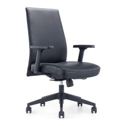 White Line Imports - Columbia Low Back Office Chair in Black - Features:
