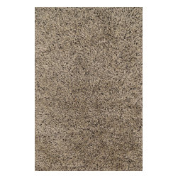 """Loloi Rugs - Loloi Rugs Boyd Collection - Beige/Black, 3'-6"""" x 5'-6"""" - Hand tufted in India, the Boyd Collection is a luxuriously soft collection with sophisticated colors that suit upscale contemporary and transitional room settings. Crafted with wool and touches of viscose, Boyd shags have just a touch of sheen for added prestige."""