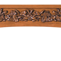 "Handcarved Tuscan Country Range Hood RH6074 - 65""w x 15 1/2""h x 1 1/4""d.  Hancarved maple.  Available in cherry."