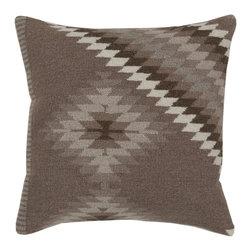 "Surya - Surya 18 x 18 Decorative Pillow, Dark Taupe, Oatmeal & Army Green (LD038-1818P) - Surya LD038-1818P 18"" x 18"" Decorative Pillow, Dark Taupe, Oatmeal and Army Green"