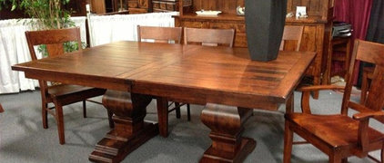 Amish Wilmington Double Trestle Table | Trestle Tables | Amish Dining Room Table