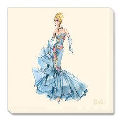 Artcom - Barbie&#0153, Blue Dres by Robert Best - Barbie&#0153, Blue Dres by Robert Best is a Stretched Canvas Print.