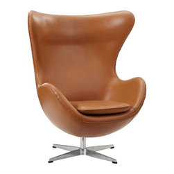 Modway - Glove Chair In Terracotta Aniline Leather - Eei-528-Ter - High Density Foam Cushioning