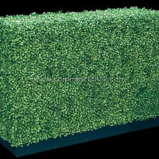 Modern Garden Statues And Yard Art by Artificial Boxwood Hedge by Commercial Silk Int'l