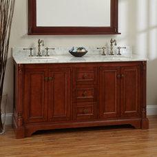 "60"" Cherry Trevett Double Vanity Cabinet with Undermount Basins"
